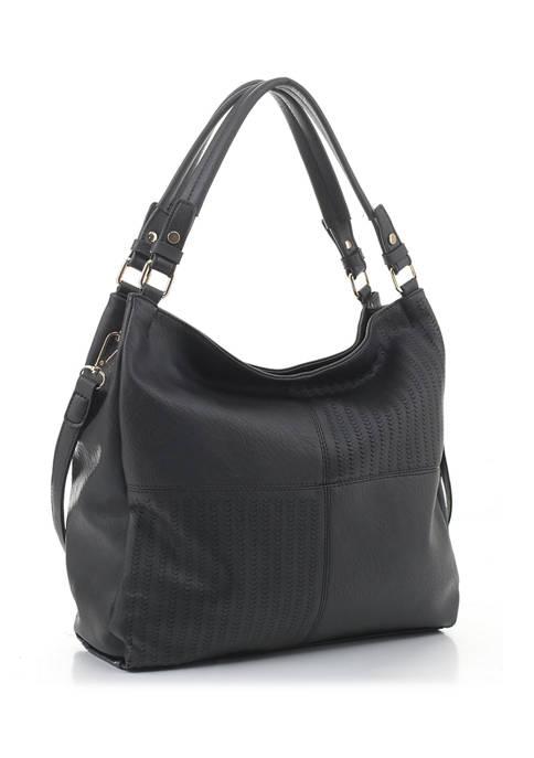 New Directions® Laser Cut Detail Hobo Bag