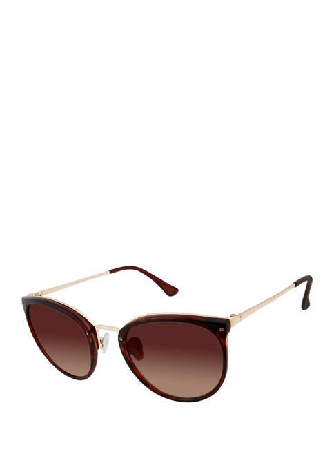New Directions® Combo Cat Eye Metal Bridge Sunglasses