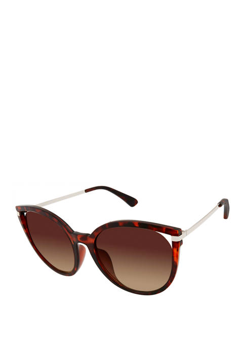 New Directions® Plastic Cat Eye Vented Sunglasses