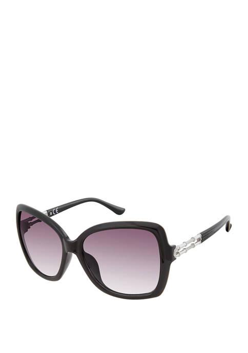 New Directions® Plastic Rectangular Sunglasses