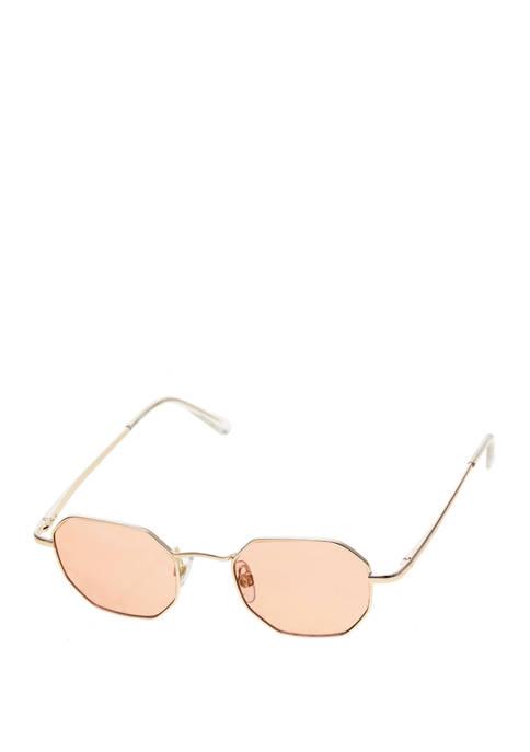 TRUE CRAFT Metal Hexagon Sunglasses