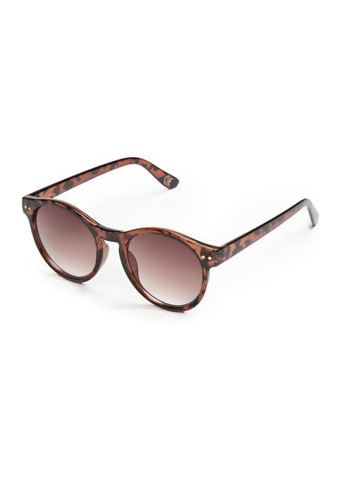 Tortoise Plastic Clubmaster Sunglasses