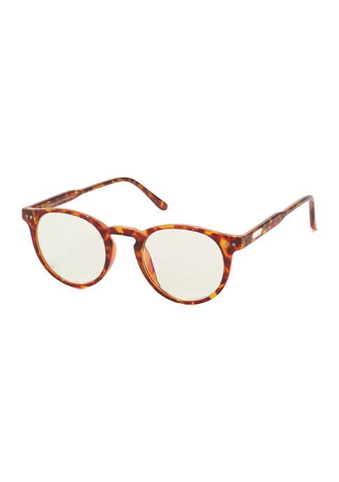 DIFF Eyewear Chase Amber Tortoise Sunglasses +2.0
