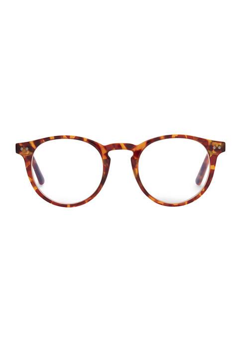 Chase Amber Tortoise Reading Glasses +2.5