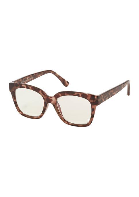 Ava Beige Tortoise Sunglasses +1.5