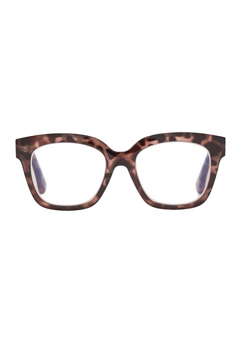 Ava Beige Tortoise Reading Glasses +2.5