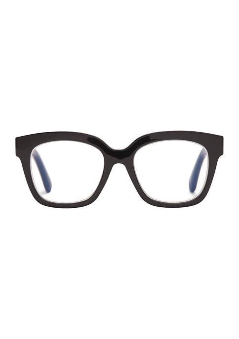 Ava Black Reading Glasses +2.0