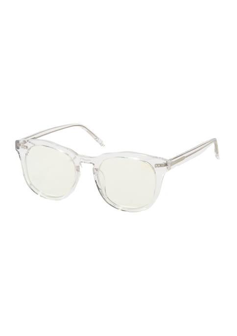 DIFF Eyewear Weston Clear Crystal Blue Light Glasses