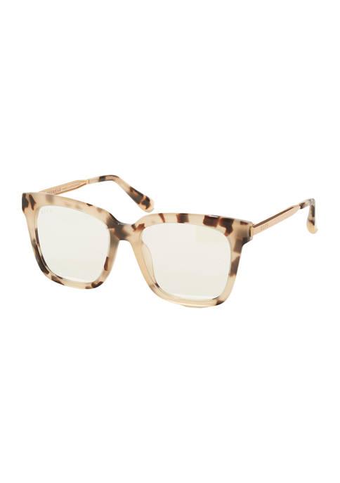 Bella Cream Tortoise Glasses + Blue Light