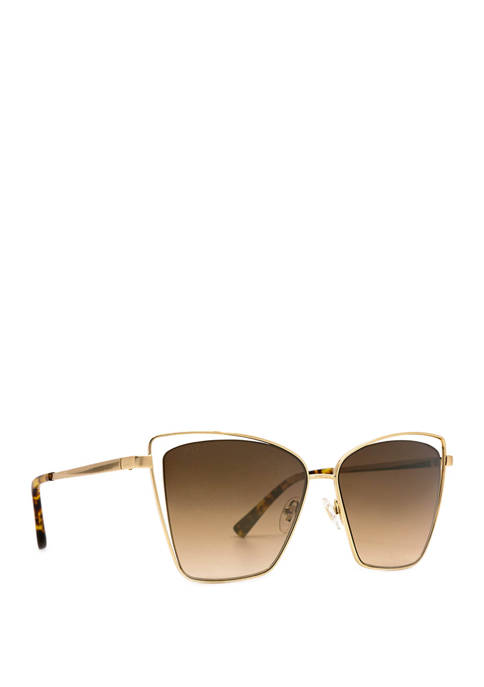DIFF Eyewear Becky III Gold and Brown Sunglasses