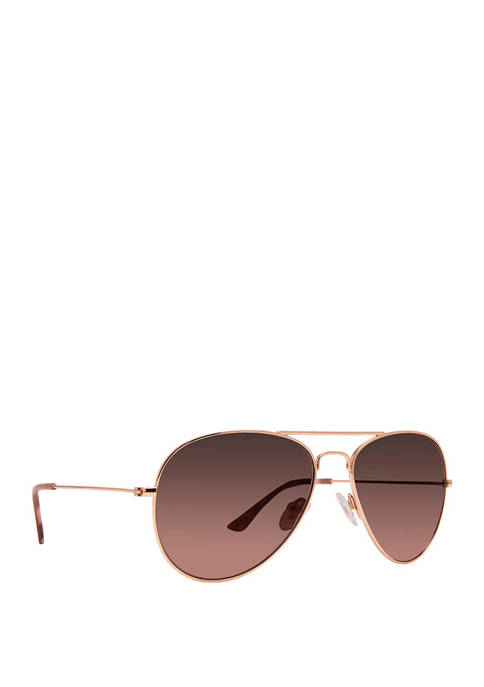 DIFF Eyewear Cruz Rose Gold and Wine Sunglasses