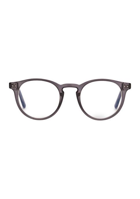 DIFF Eyewear Chase Smoke Crystal Reading Glasses +2.5