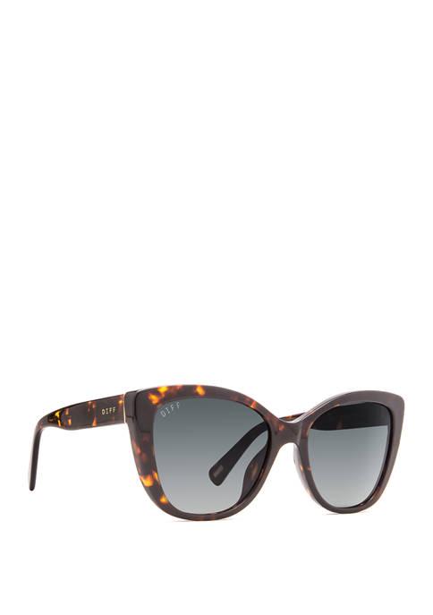 DIFF Eyewear Ruby Tortoise and Gray Sunglasses