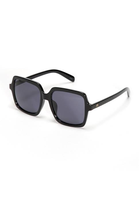 New Directions® Square Black Sunglasses