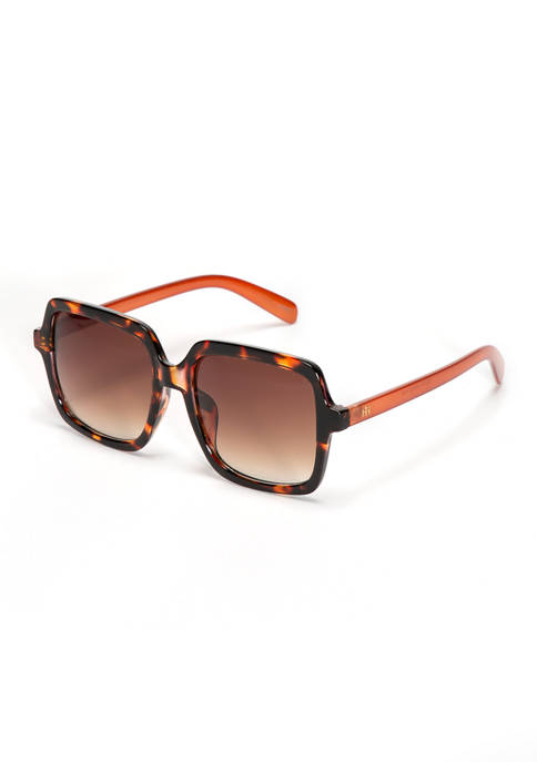 New Directions® Square Two Tone Sunglasses