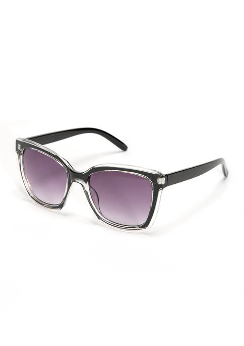 Plastic Double Layer Cat Eye Sunglasses
