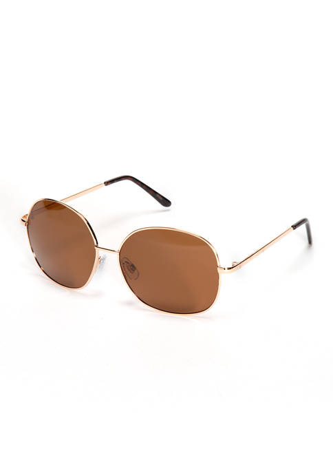New Directions® Rectangle Gold Tortoise Sunglasses