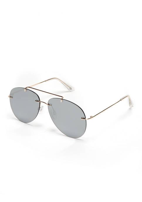New Directions® Shiny Gold Aviator Sunglasses