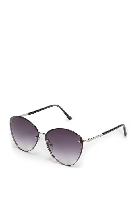 New Directions® Rimless Metal Cat Eye Sunglasses