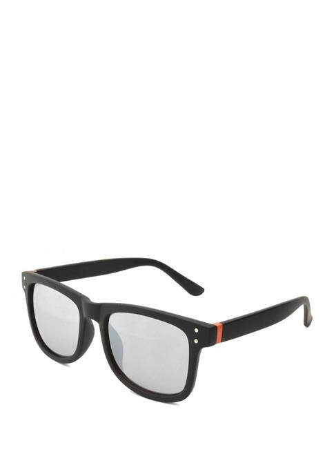 Black Rubberized Wayfarer Sunglasses