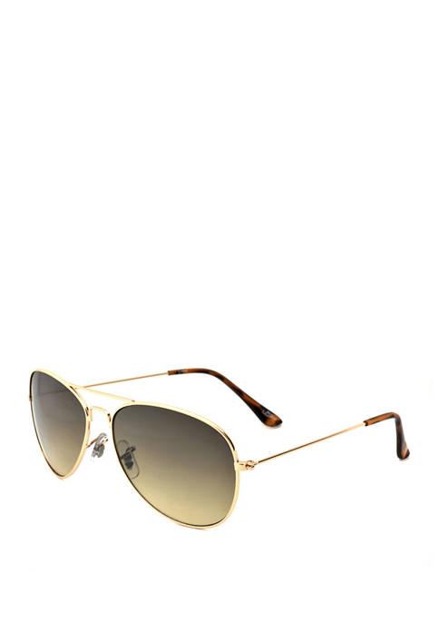 Ocean & Coast® Gradient Lens Gold Aviator Sunglasses
