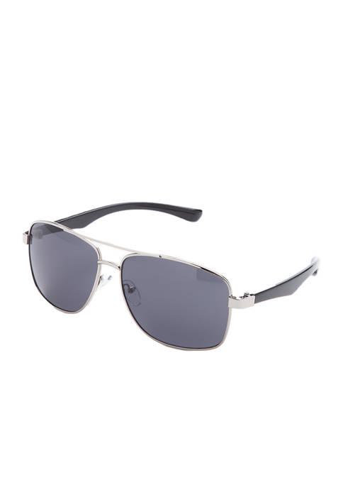 Gold Metal Wrap Sunglasses