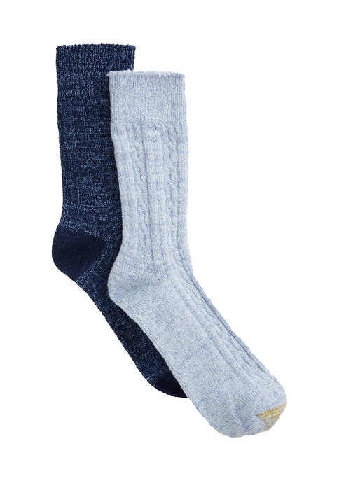 Gold Toe Soft Recycled Cable Knit Socks
