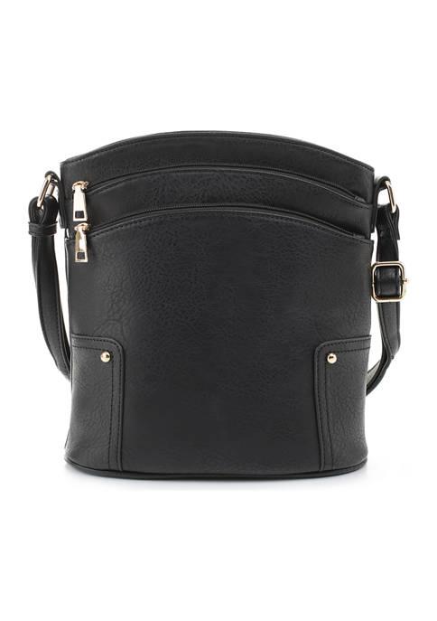 Kim Rogers Triple Zip Shoulder Bag