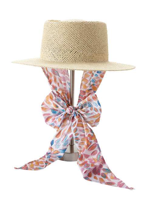 New Directions® Scarf Tie Neck Hat