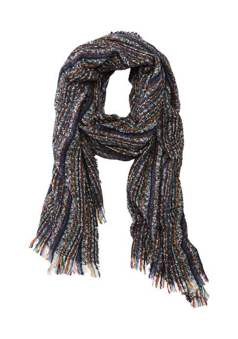 Marcus Adler Rainbow Stripe Blanket Scarf