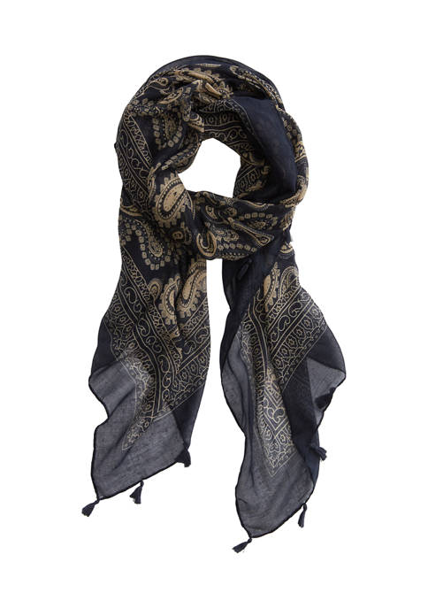 New Directions® Paisley Tassel Scarf