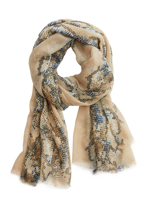 New Directions® Snakeskin Oblong Scarf