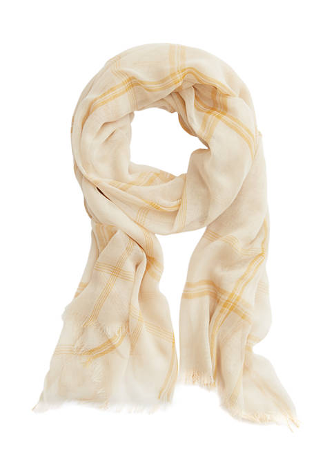 New Directions® Plaid Oblong Scarf