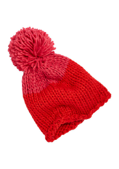 Crown & Ivy™ Chunky Knit Colorblock Beanie