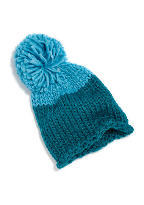 Crown & Ivy™ Chunky Knit Color Block Beanie