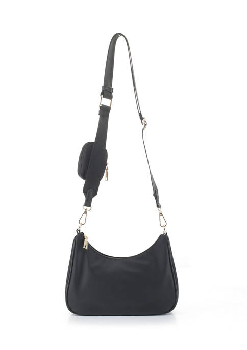 Shoulder Bag with Keychain Pouch