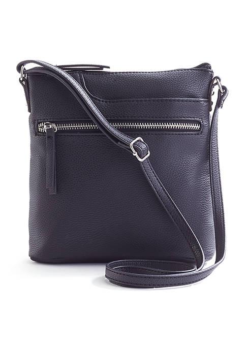Front Zipper Pocket Crossbody