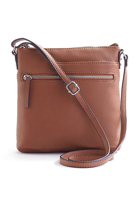 Mathew + Julian Front Zipper Pocket Crossbody