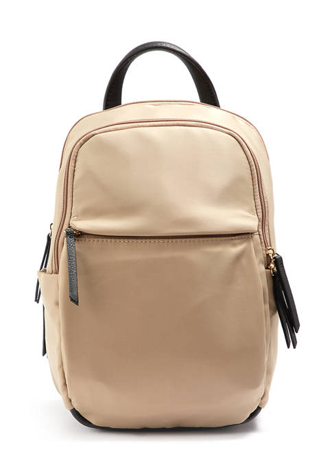 Seven Days Double Top Zippered Nylon Backpack