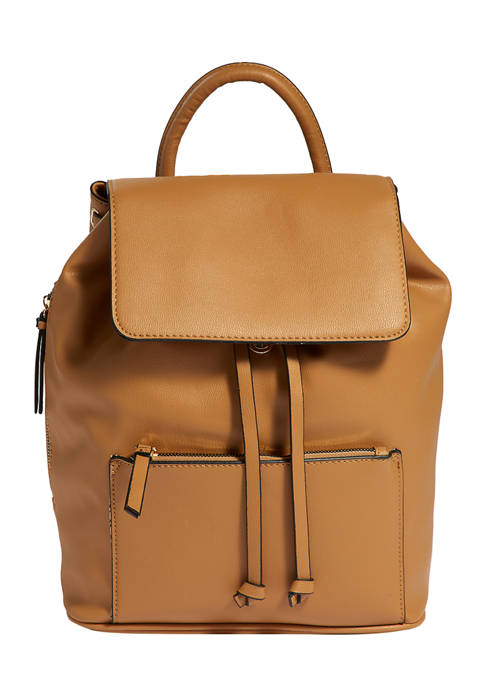 Mathew + Julian Drawstring Backpack with Exterior Front