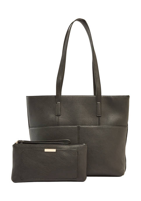 Mathew + Julian 2-in-1 Top Zip Tote and