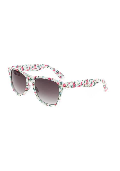 TRUE CRAFT Wayfarer Floral Sunglasses