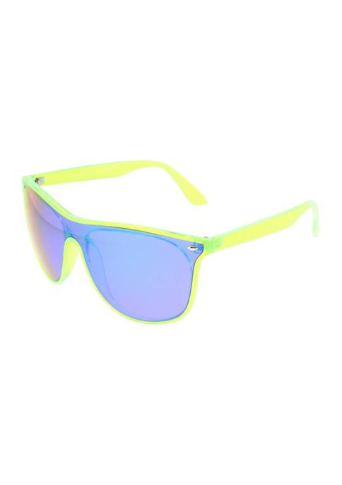 Plastic Neon Shield Sunglasses