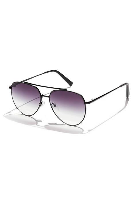 KENDALL + KYLIE Jett Angular Aviator Sunglasses