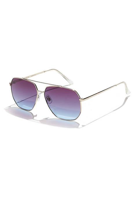 KENDALL + KYLIE Devon Angular Navigator Sunglasses