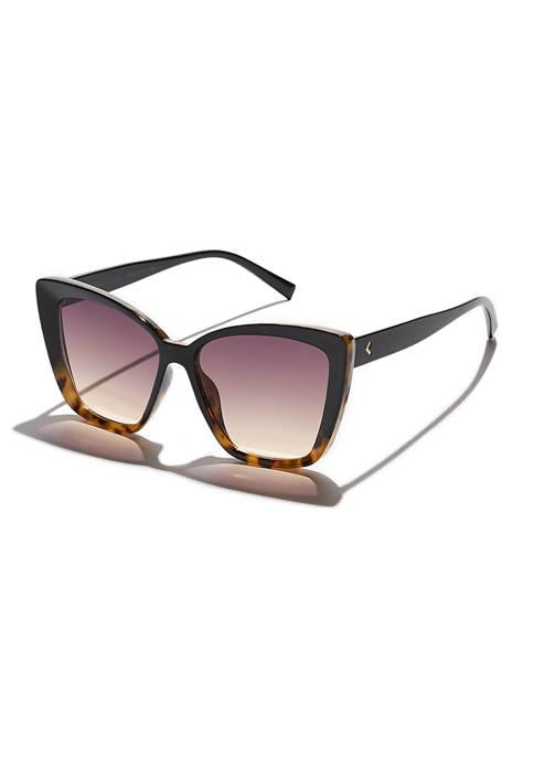 KENDALL + KYLIE Maze Oversized Beveled Butterfly Sunglasses