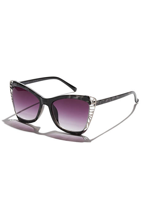 KENDALL + KYLIE Nina Overstated Butterfly Sunglasses