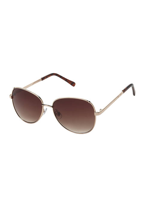 Classic Metal Butterfly Wing Sunglasses