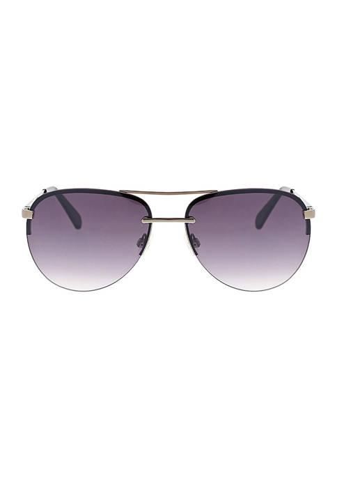 BCBG Rimless Aviator Sunglasses