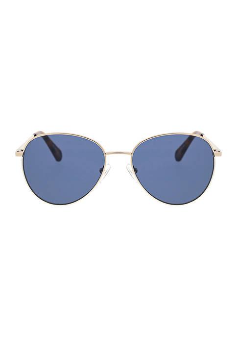 BCBG Round Metal Sunglasses